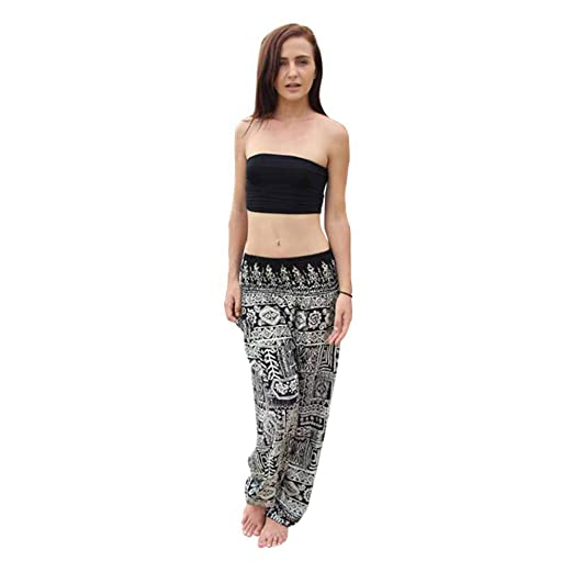 Amazon.com: iLUGU Mens Womens Thai Sports Pants Harem ...
