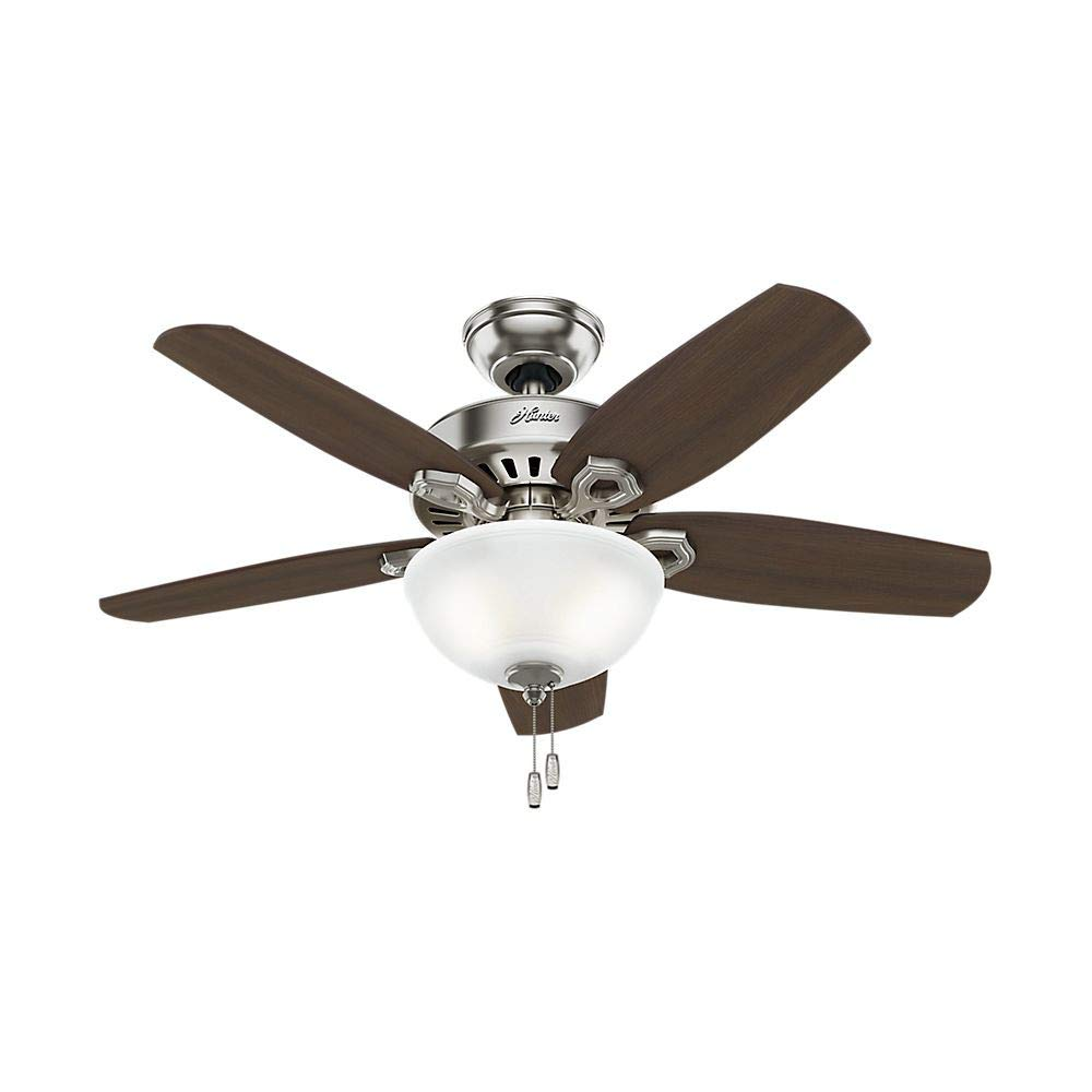"Hunter Fan Company 52219 Hunter 42"" Builder Small Room Brushed Nickel Ceiling Fan with Light See Image"