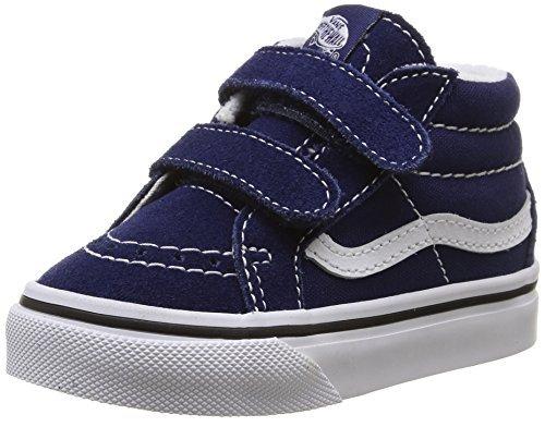Vans Baby Boys' Sk8-Mid Reissue V (Infant/Toddler - Blue/True White - 5 - Baby Sneakers Vans