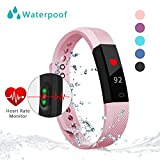 Fitness Tracker Watch With Heart Rate Monitor Bonebit Waterproof Outdoor Sportwatch with Pedometer Calories Counter and Sleep Monitor Bluetooth Wireless Smart Bracelet for Android& iOS Phone (Pink)