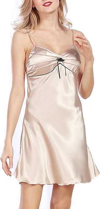 Pijamas Mujer Camisones Negros Mujer Baño Pijamas Esencial ...