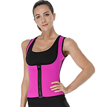 4cd732ea412 CYMF Neoprene Slimming Sauna Vest Body Shaper Waist Trainer Vest Hot Sweat  Workout Shirt for Weight