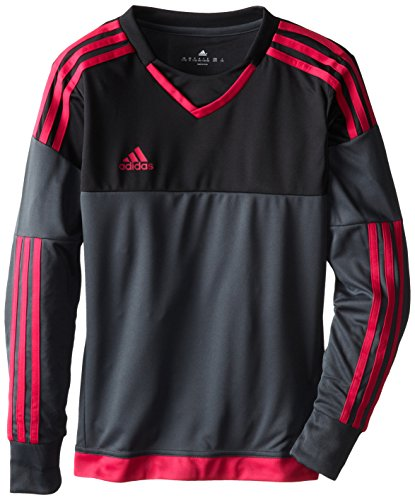 adidas Performance Youth Top Goalkeeping Jersey, X-Small, Dark Grey/Black/Pink Buzz ()