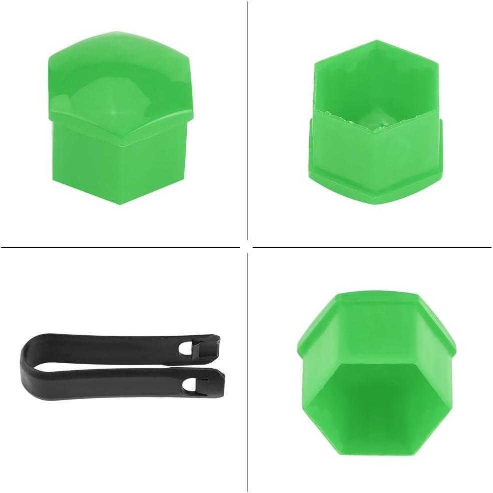 Keeno 20 piezas de 17 mm para tuercas de llanta de coche cubierta de tornillo cubierta de rueda para tapacubos y herramienta de extracci/ón universal