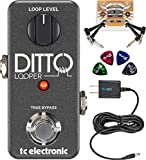 TC Electronic Ditto Looper Effects Pedal –INCLUDES– Blucoil 9V Pedal Power Supply AND