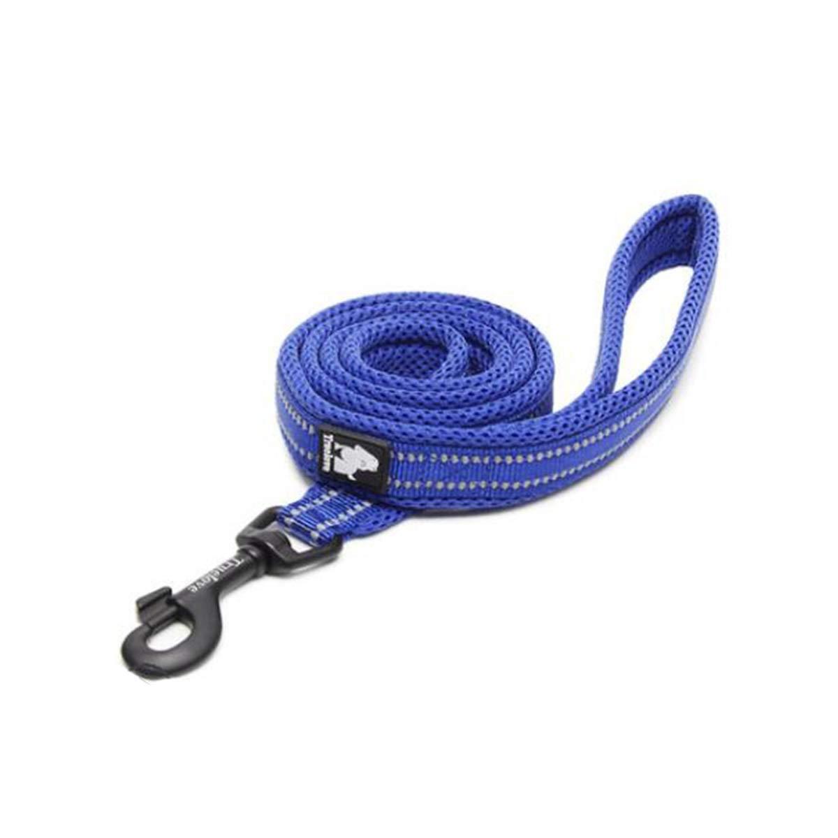 bluee LPet Leash, Suitable for Dogs Between 10kg50kg, Oxford Cloth + Breathable mesh Fabric pet Leash, Professional pet Leash, 6, 6 colors Available (color   bluee, Size   L)