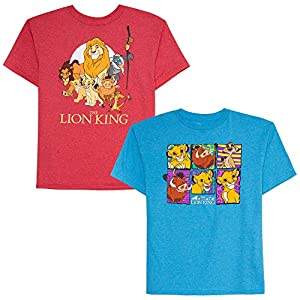 Disney Boys' Big 2 Pack of Lion King Graphic T-Shirts