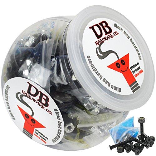 BULK Dime Bag Skateboard Hardware 1.5'' Phillips Black 50 Sets Shop Display Case by Dime Bag Hardware