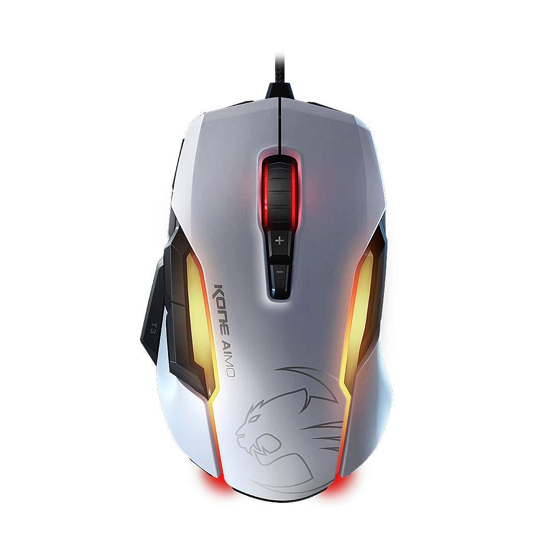 ROCCAT KONE AIMO – RGBA Smart Customization Gaming Mouse, White