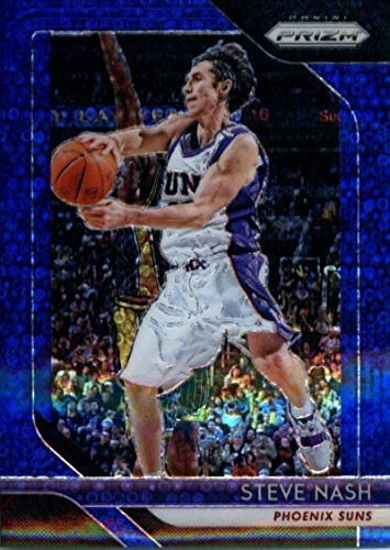 (2018-19 Panini Prizm Prizms Fast Break Blue #155 Steve Nash Phoenix Suns Basketball Card)
