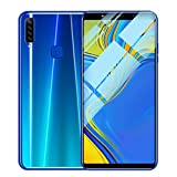 Weite Eight Cores 6.1'' Full Screen 3G Unlocked Smartphone with Finger Print Sensor, Supports Face Recognition/Android 8.1 IPS/16GB/Four HD Camera/Dual SIM Card/3800Mah Lithium-ion Battery (Blue)