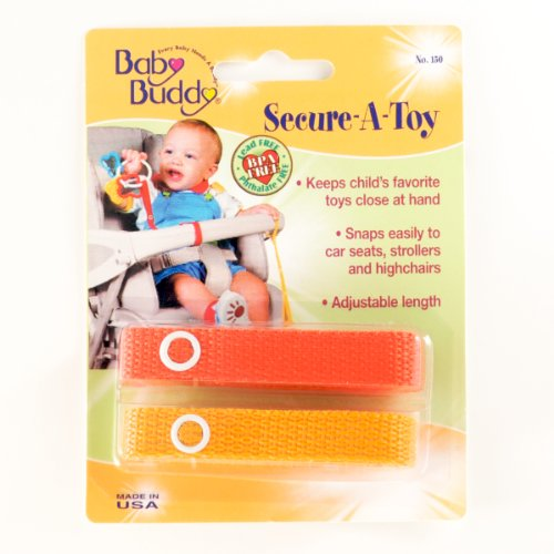 Secure-A-Toy 2ct Orange-Gold Case Pack 24 by Baby Buddy
