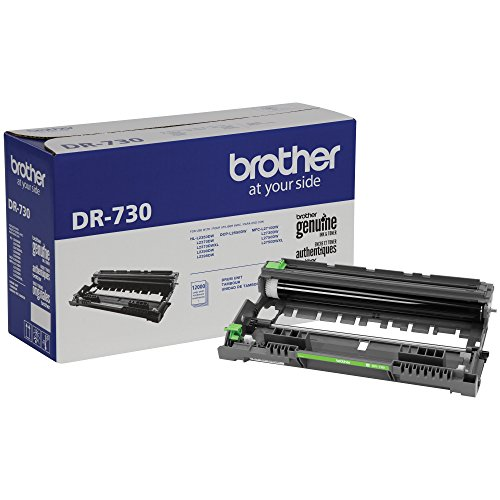 Drum Unit Printer Cartridges - Brother Genuine Drum Unit, DR730, Seamless Integration, Yields Up to 12,000 Pages, Black