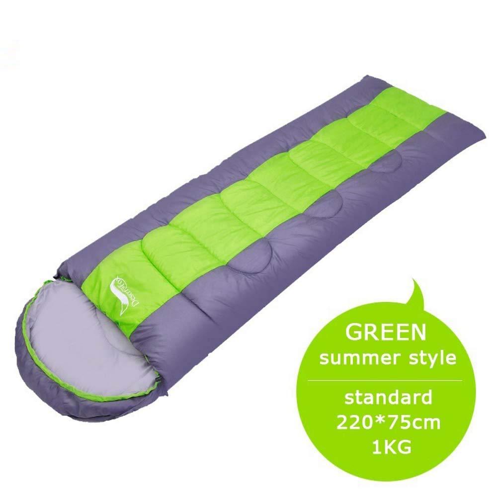 Entrega directa y rápida de fábrica verde CFPPX Saco de de de Dormir Momia para Adultos Relleno de Fibra sintética para Acampada Senderismo con Bolsa de compresión 1.4KG  servicio considerado