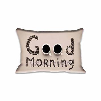 Amazon.com: good morning Funda de almohada con cierre 16 x ...