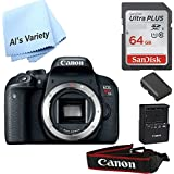 Canon T7i Body Only (No Lens) with Free SanDisk Ultra 64GB SDHC Class 10 Card