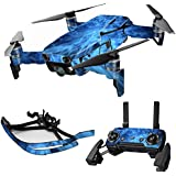 MightySkins Skin For DJI Max Coverage - Blue Mystic Flames | Protective, Durable, and Unique Vinyl Decal wrap cover | Easy To Apply, Remove, and Change Styles | Made in the USA