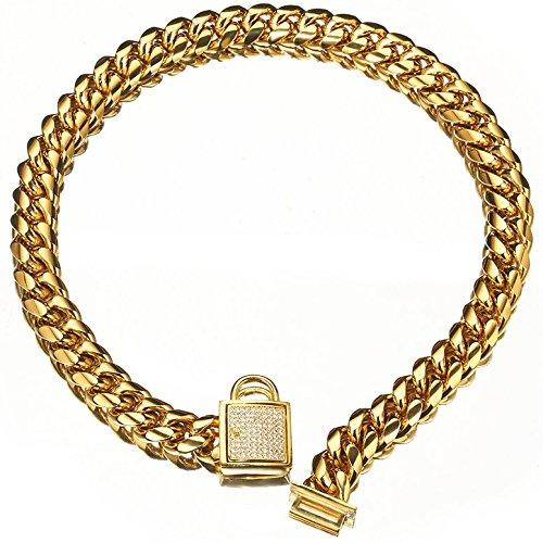 cuban link puppy collar