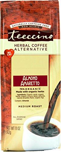 Teeccino Almond Amaretto Chicory Herbal Coffee Alternative, Caffeine Free, Acid Free, 11 Ounce