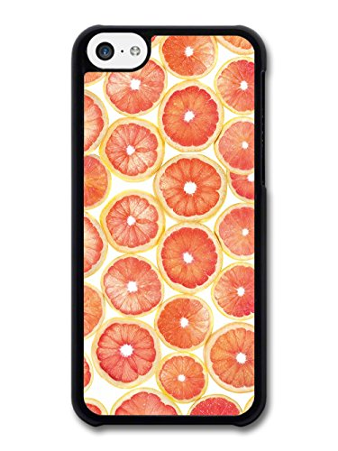 Cool Grapefruit Slice Pattern Design in a Red Style case for iPhone 5C