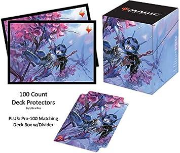 Ultra Pro Ultimate Masters V1 Bitterblossom - Fundas Protectoras para Cubiertas (100 Unidades, con Caja y Separador a Juego): Amazon.es: Juguetes y juegos