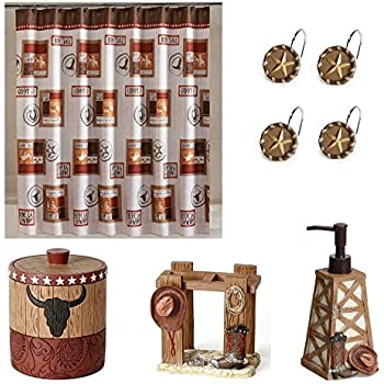 Rodeo Bathroom Decor Set, Western Decor Bath, Cowboy, Texas Star,  Multicolor,