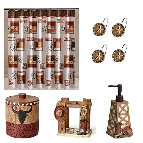 Rodeo Bathroom Decor Set, Western Decor Bath, Cowboy, Texas