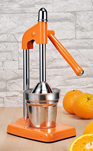 Hebelziturspresse - mechanische Hebel-Zitruspresse Saftpresse für Orangen Limetten und Zitronen ORANGE 12067