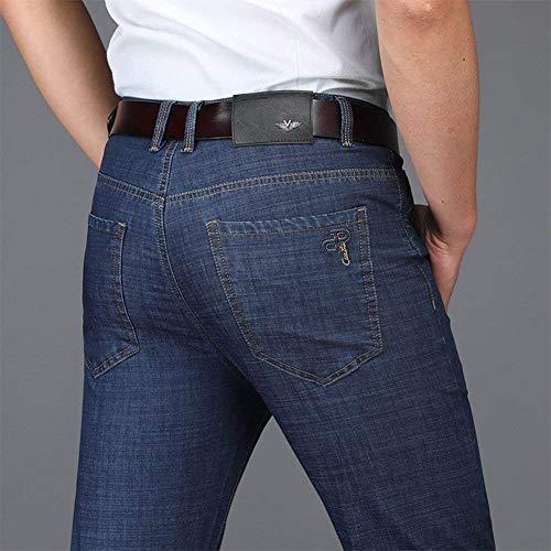 Da Stil2 Pantaloni Regular Jeans Lavoro Ufige Nne Dritti Dritto Ricamo Fit Slim Uomo qqzRpg