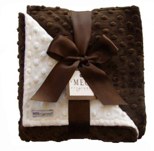 Meg Original Chocolate & Vanilla Minky Dot Blanket (Blanket Vanilla Chenille)