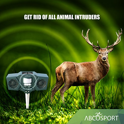 Ultrasonic Solar Animal Amp Pest Repeller With 30 Motion