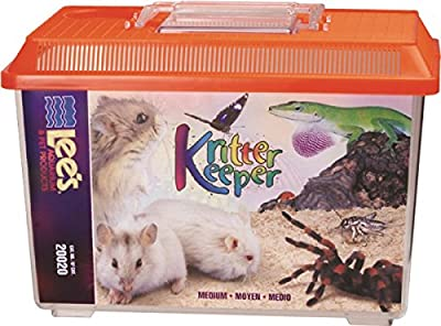 Lee's Kritter Keeper, Medium Rectangle w/Lid, Label, Colors may vary