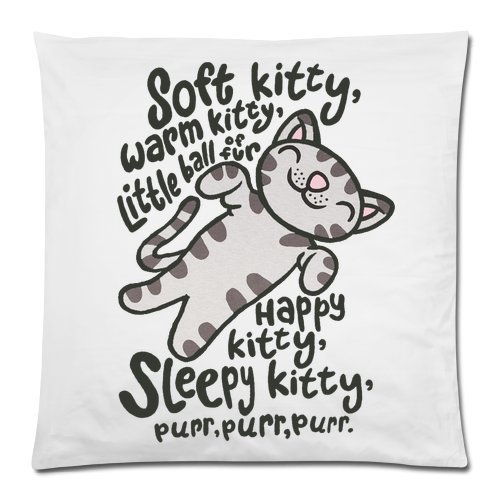 Funny Cat Kitty Pillowcase - Soft Kitty Warm Kitty Cushion Case - Throw Pillow Case Decor Cushion Covers Square with Hidden Zipper Closure - 18x18 inches, One-sided Print ()