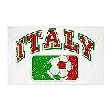 3' x 5' Area Rug Italy Soccer Grunge Italian Flag