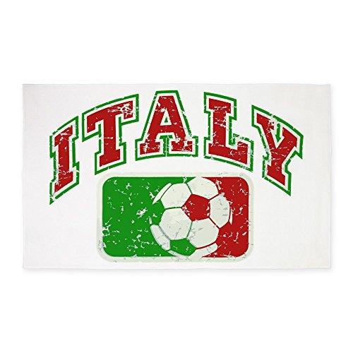3' x 5' Area Rug Italy Soccer Grunge Italian Flag by Royal Lion