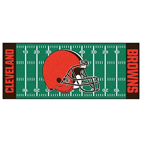 FANMATS NFL Cleveland Browns Nylon Face Football Field Runner