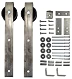 Sliding Barn Door Wheel & Hanger Kit (with Mounting Hardware) - 2 pcs.
