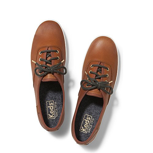 Keds Women's Champion Burnished Leather Cognac 9 M