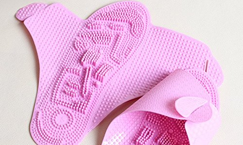 TELLW Travel Portable Folding Slippers Men and Women Bathroom Slippers Business Hotel Slippers Cool Slippers Pink AnYxH
