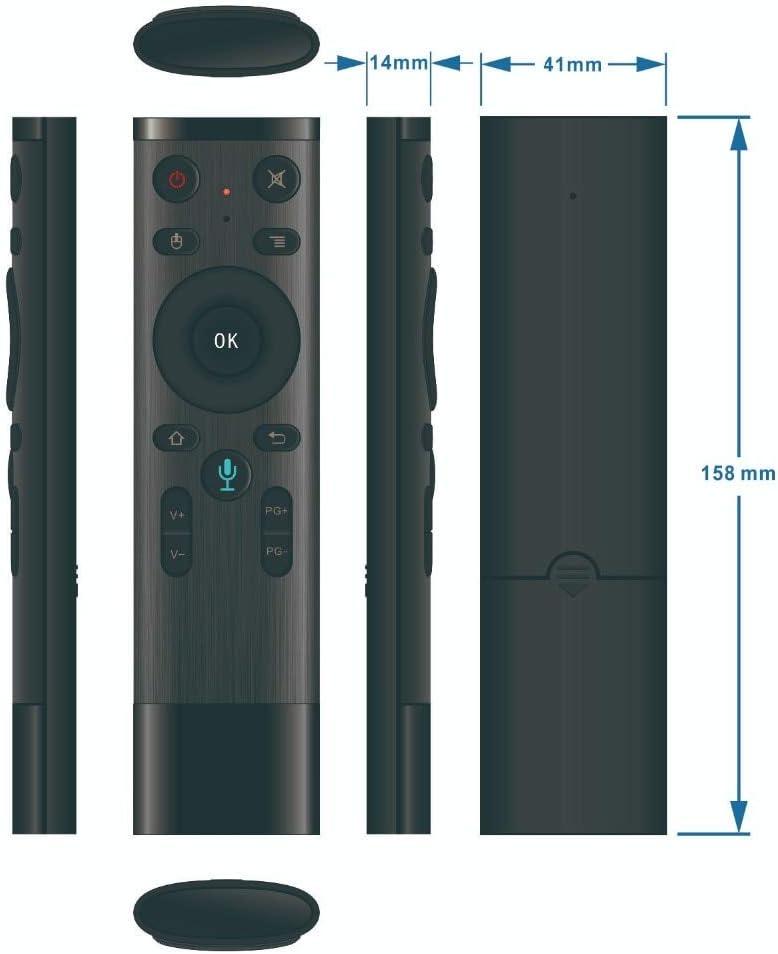 Calvas 10 pcs//lot Q5 Air Mouse Wireless 2.4G Voice Remote Control With USB For Smart TV box Color: Q5 VOICE Gyroscope