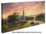 Sunrise Chapel - Thomas Kinkade 16'' X 31'' Gallery Wrapped Canvas