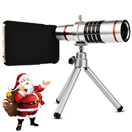 Youniker Optical Camera Lens Kit for Samsung Galaxy S5,18x Manual Focus Telephoto Lens for Samsung S5,Including 18x Aluminum Zoom Telescope Camera Lens with Tripod + Samsung S5 Case (Zoom Galaxy S5)