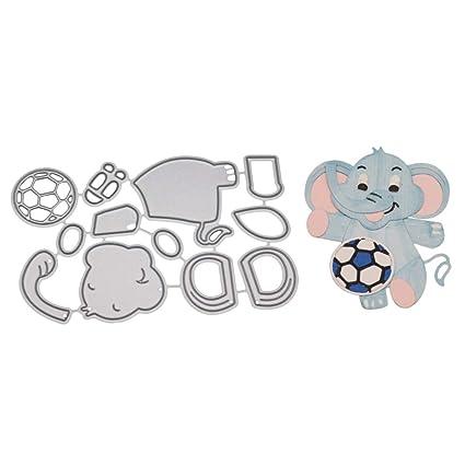 Feida Troqueles de corte, diseño de elefante de fútbol, troquelado de metal, para