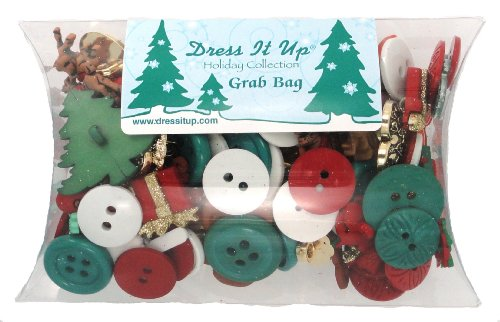 DRESS IT UP 1460 CHRISTMAS BUTTON GRAB BAG