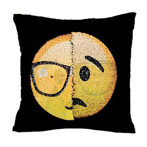 Emoji Smiley Emoticon Yellow Squar Cushion Stuffed Plush Sof
