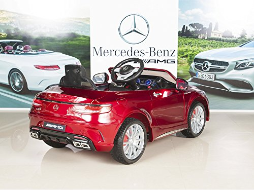Mercedes benz s63 ride on car kids rc car remote control for Red mercedes benz power wheels