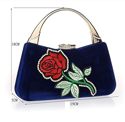 Sacs Pochette Mode Sacs GSHGA De Filles Fleurs Nouveau Mariée Soirée à Mini Black Main Sacs Red Bandoulière à Robes xRaw8EqSR