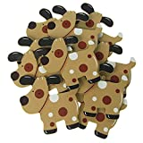 Wooden Dog Animal Cutouts, Toffee, 4-1/4-Inch, 10-Piece
