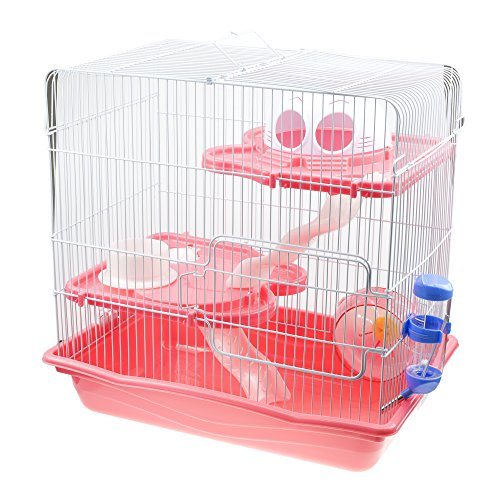 GNB Pet Large Hamster Cage DIY Habitat, 3-Level Habitat with Tunnels & Complete Accessories, ()