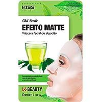 Kiss NY Professional Máscara Facial de Algodão - Chá Verde, Kiss New York Professional